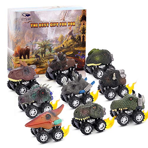 dimaingzing Dinosaur Cars Toys Age 3-8, Pull Back Cars 3-8 Year Old Toys for 3-8 Year Olds Boys Gifts for 3-8 Year Olds Kids Dinosaur Toys Cars Chris Mas Gifts for Boys Age 3-6 Cars for 2-6 Year Olds