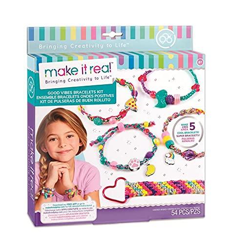 Make It Real- Juegos de Manualidades de joyería para niños, Multicolor (1316)