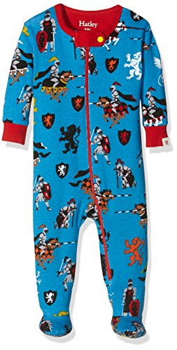 Hatley Boys' Footed Coverall, Red, 12 18 Months