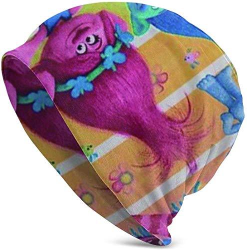 Whecom Strickmützen, Trolls Beach Towel Girls Poppy Beach Pool Towel 80x130CM Valentine Funny Upgrade Hip- Adult Knit Beanie Warm Knit Ski Skull Cap Beanie Mütze One Size für Damen und Herren