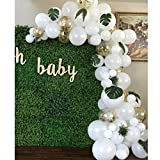 Soonlyn White Balloon Garland Kit 12 Inch 100 Pcs, Confetti Balloon Arch Kits for Wedding Baby Shower Bridal Shower Birthday Party