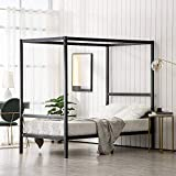Bonnlo Canopy Bed Frame, Black, Twin Size