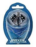 Maxell PLUGZ - Auriculares (Intraaural, Dentro de odo, 5 MW, Almbrico, 3.5 mm (1/8'), 1.2m) Negro