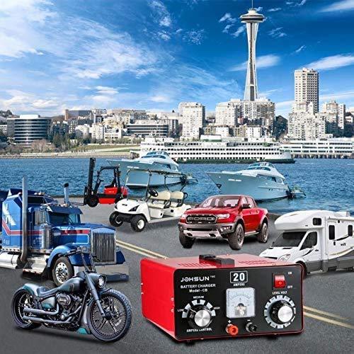 omazra Battery Charger 12V/24V/36V/48V/60V/72V Maintainer for Car Golf Cart Lawn Mower Marine Boat Snowmobile ATV RVs FORKLEFT Cars 12V Battery Charger (Battery Charger)
