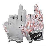 シマノ(SHIMANO) フィッシング グローブ 3本切 GL-021SオレンジGRカモL 釣り 手袋