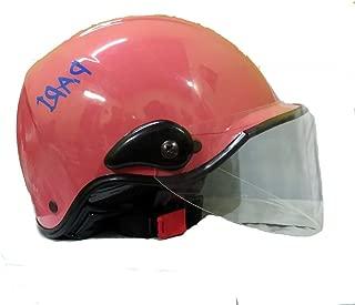 Kart Trade PARI Glossy Open Face Helmet/Cap for Men and Women, Pink