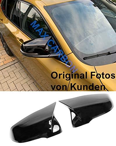 MAX CARBON ® - Calotte sportive per specchietto retrovisore esterno, colore nero lucido, adatto per F39 F40 F44 F45 F46 G29 Z4 Serie 2 GT X2 X1