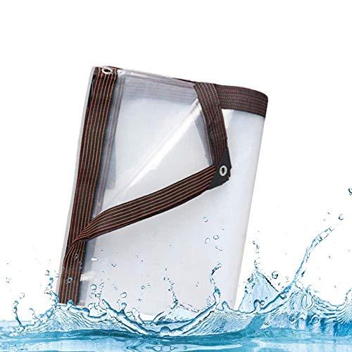 ZHCHL Lona Impermeable Transparente 4x10m, Lona Transparente Impermeable Exterior Lona Plastico Exterior, Lona De Proteccion Transparente, Toldo Camping Impermeable