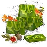 Jabón de glicerina hecho a mano (Fig & Freesia)