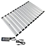 EShine 12 Panels 12 inch LED Dimmable Under Cabinet Lighting Kit, Hand Wave Activated - Touchless Dimming Control - Deluxe Kit, Cool White (6000K)