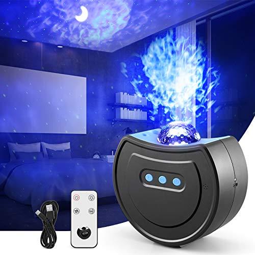 LED Sternenhimmel Projektor, OUTAD Sternenlicht Projektionslampe 3 in1 Stern Mond Ozeanwellen Sternenhimmel Lampe USB Aufladung mit Fernbedienung für Geschenke Schlafzimmer Haus Party Dekoration