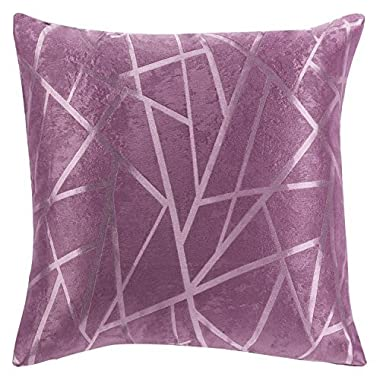 Modern Style Purple Striped Polyester Geometric Decorative Pillow Cover beige/grey/purple Pillow Covers (18  X18  )