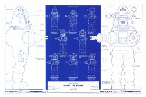Robby The Robot Blueprint Poster