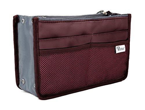Periea Handtaschen-Organizer - Chelsy - 28 Farben erhältlich - Klein, Mittel & Groß (Weinrot, Klein)