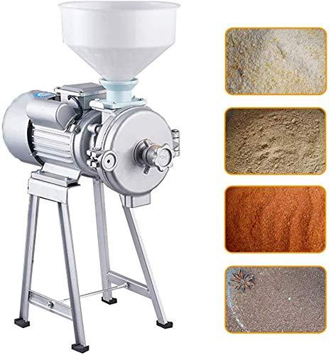 2 200 W elektrisk kvarn högpresterande kommersiell kvarn torrkvarn spannmål majskorn kaffe vete matningsmaskin med tratt, D