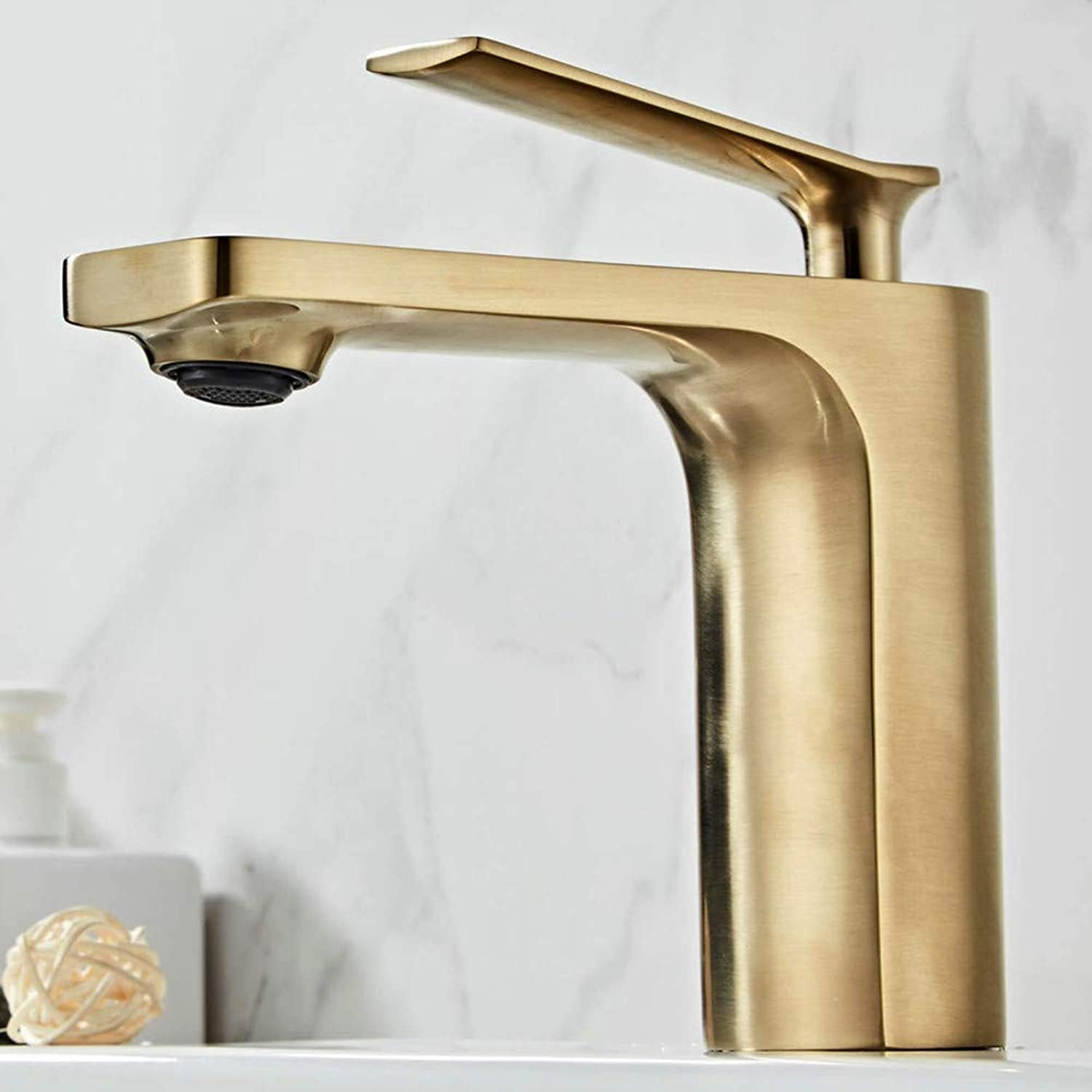 Water Tapbathroom Basin Taps Laundry Vanity Sink Faucet Brushed gold Finish Lavatory Tap