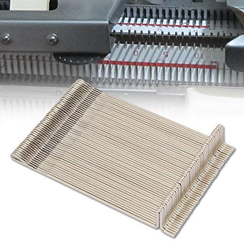 Sheens Strickmaschine Nadel, 50PcsNeedle Stahl Nadeln Set Strickmaschine Strickmaschine Zubehör cm Fit für LK100 LK150 KH360