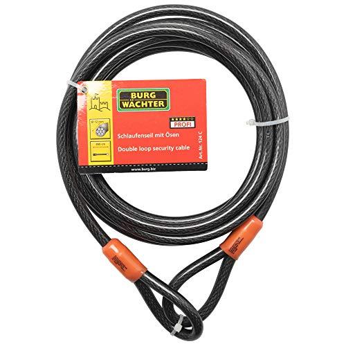 Sterling 124C - Cable de Seguridad de Bucle Doble autoenroscable (Recubrimiento de...