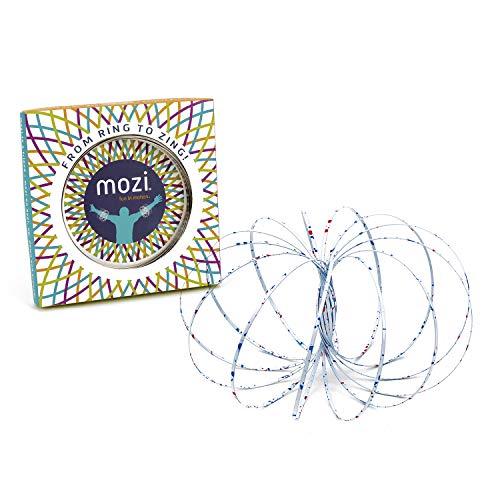 Mozi Geometric Magic Flow Ring - Einfach zu bedienen - 3D Arm Slinky Bracelet Toy für Kinder und Erwachsene (White Splatter)