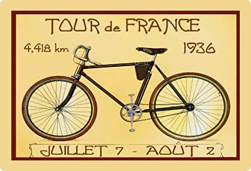 Generisch blikken bord 30x20cm Tour de France 1936 wielrennen fiets retro schild nostalgie