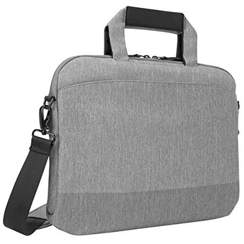 Targus CityLite Laptop case shoulder bag best for work, commute or university, fits laptops up to 14-Inch, Grey (TSS959GL)