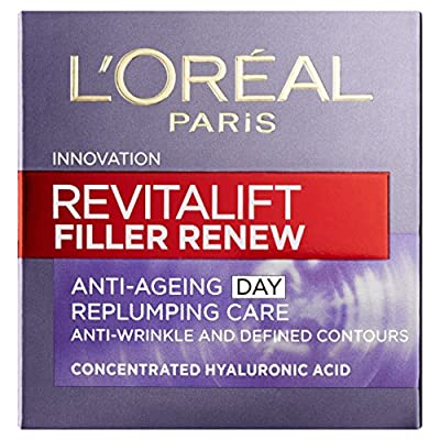 L'Oreal Paris Revitalift Filler + Hyaluronic Acid Anti Ageing Anti-Wrinkle Replumping Day Cream 50 ml