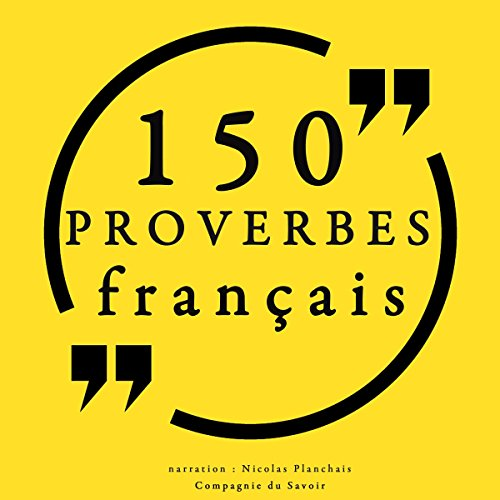 150 proverbes français audiobook cover art