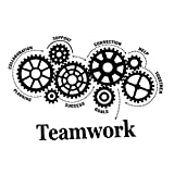 NUOBESTY Teamwork Definition Wall Art Sticker Office Inspirational Words Wall Decals Quotes Removable Wall Sticker Decoration for Home Office Store (Black)