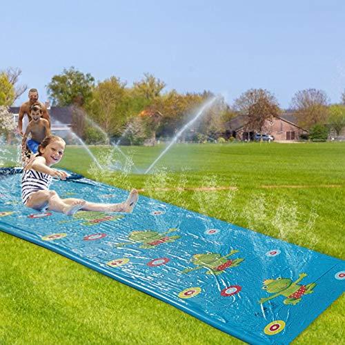 Tobogán De Agua | del Resbalón del Chapoteo del Agua del Patio Trasero del Tobogán Acuático del Césped para Los Niños | 4.2X1.09 M