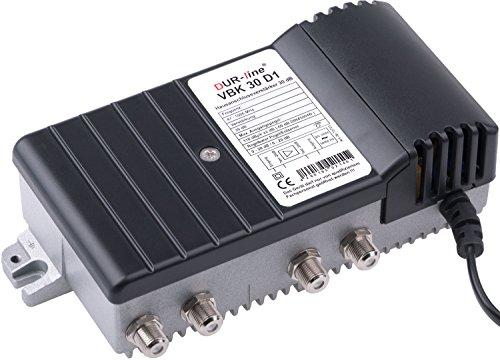 DUR-line VBK 30 D1 - Hausanschlussverstärker - Digitaler Breitband TV Kabel-Verstärker für Kabelfernsehen - Massives Druckgussgehäuse