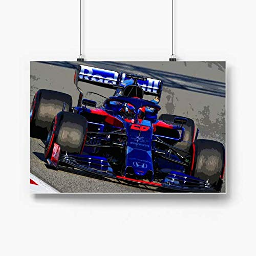 Zenladen Daniil Kvyat 2019 Poster Prints,Wall Art Horizontal 36x24 No Frame, Sports Car Posters, Supercars Posters, Poster Vintage Gift for Daughter, papa, Mother, Veterans Day, Son, mom