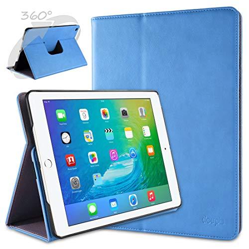 doupi Deluxe Protección Funda para iPad Air 2, Smart Sleep/Wake Up función 360 Grados giratoria del Caso del Soporte Bolsa, Azul