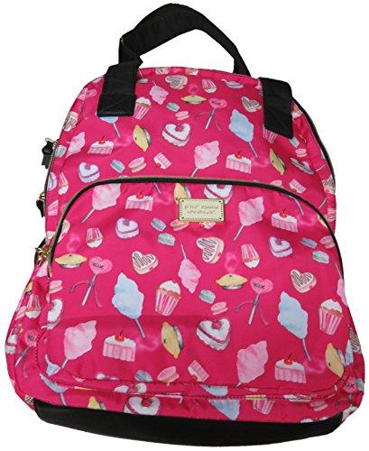 Betsey Johnson Backpack w Pom Pom (Cream Cupcake)