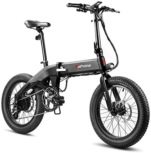 eAhora Electric Bike 27.5'' AM100 Plus Mountain Electric Bikes for Adults 48V 14AH Ebike Battery, Hydraulic Brakes, Full Air Suspension, Password Protect Color Display, USB Port, 9 Speed Gears