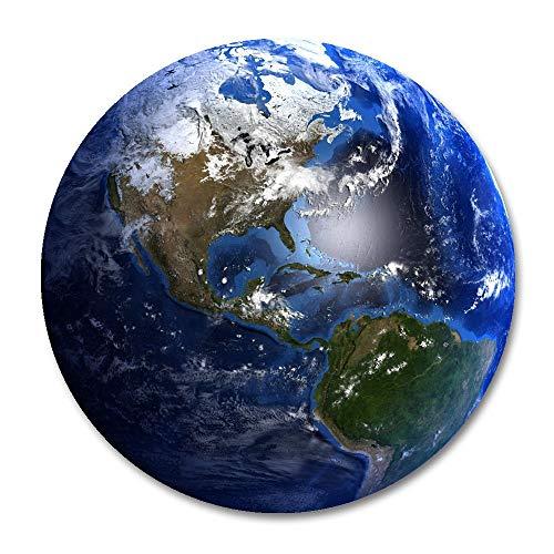 aarde ronde muis pad, aarde wolken topografie kaarten muismat ronde mat
