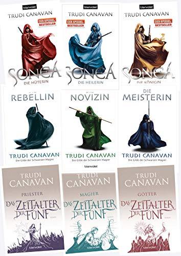 Trudi Canavan, Die Gilde der schwarzen Magier 1-3 / Sonea 1-3 / Das Zeitalter der Fünf 1-3 (Blanvalet Verlag)