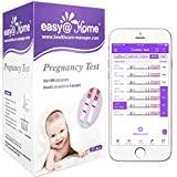 Easy@Home 25 Pregnancy (HCG) Urine Test Strips, FSA Eligible, Powered by Premom Ovulation Predictor iOS and Android APP, 25 HCG Tests