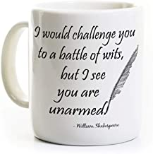 Funny Shakespeare Coffee Mug - Battle of Wits - English Teacher Gift