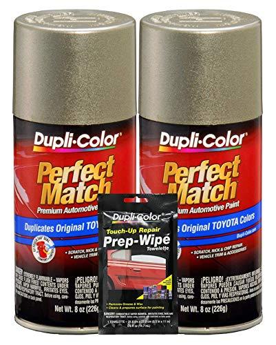 Dupli-Color Antique Sage Pearl Exact-Match Automotive Paint for Toyota Vehicles - 8 oz, Bundles Prep Wipe (3 Items)