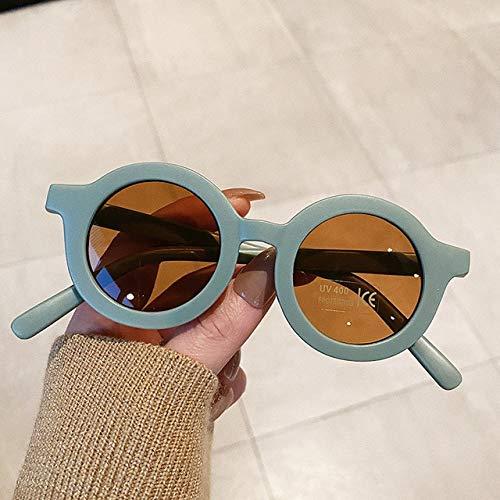 XMYNB Gafas de Sol Moda Redondo Niños Gafas De Sol Chicos Niñas Vintage Gafas De Sol UV Protección UV Clásico Gafas