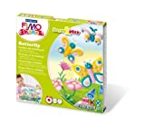 Staedtler - Fimo kids Form&Play - Set Papillon 4 Pains Pâte à Modeler 42 g Assortis + 1 Outil de Modelage + 1 DÃÂcor by MTD Products