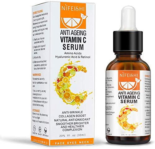 Vitamin C Serum For Face with Hyaluronic Acid Serum - Anti Aging Skin Care Serum to Minimize Wrinkles and Fade Dark Circles