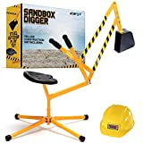 stargo Sandbox Digger Excavator Crane with 360-degree Rotation and Hard Hat for Excellent Sand Dirt and Snow Solid Steel Outdoor Toy