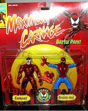 Toybiz Spider Man Maximum Carnage 2 Pack, Spider Man and Carnage Moc by