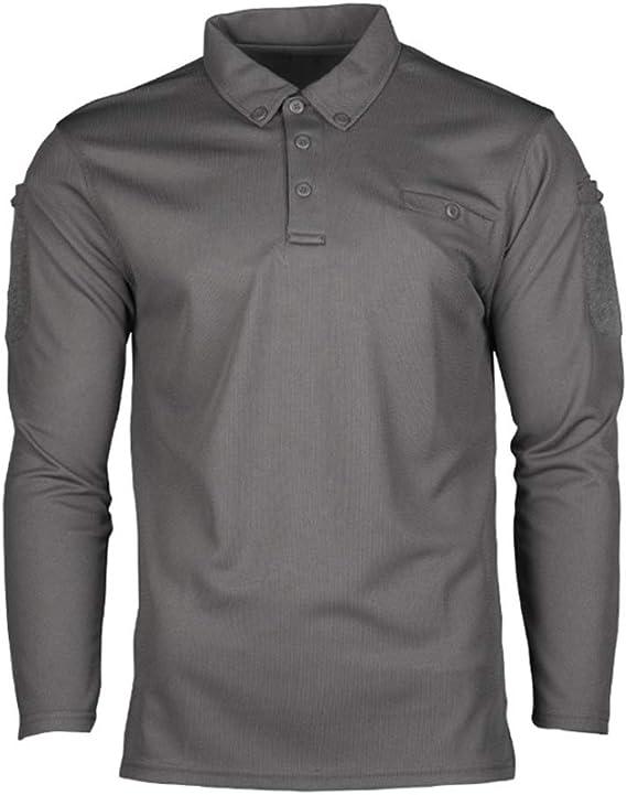Mil-Tec Camisa táctica rápida de Manga Larga Polo seco