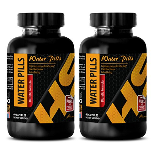 Diuretic Best Seller - Water Pills (Diuretic Formula) - Water Pills Natural - Green Tea Pills - 2 Bottles 120 Capsules