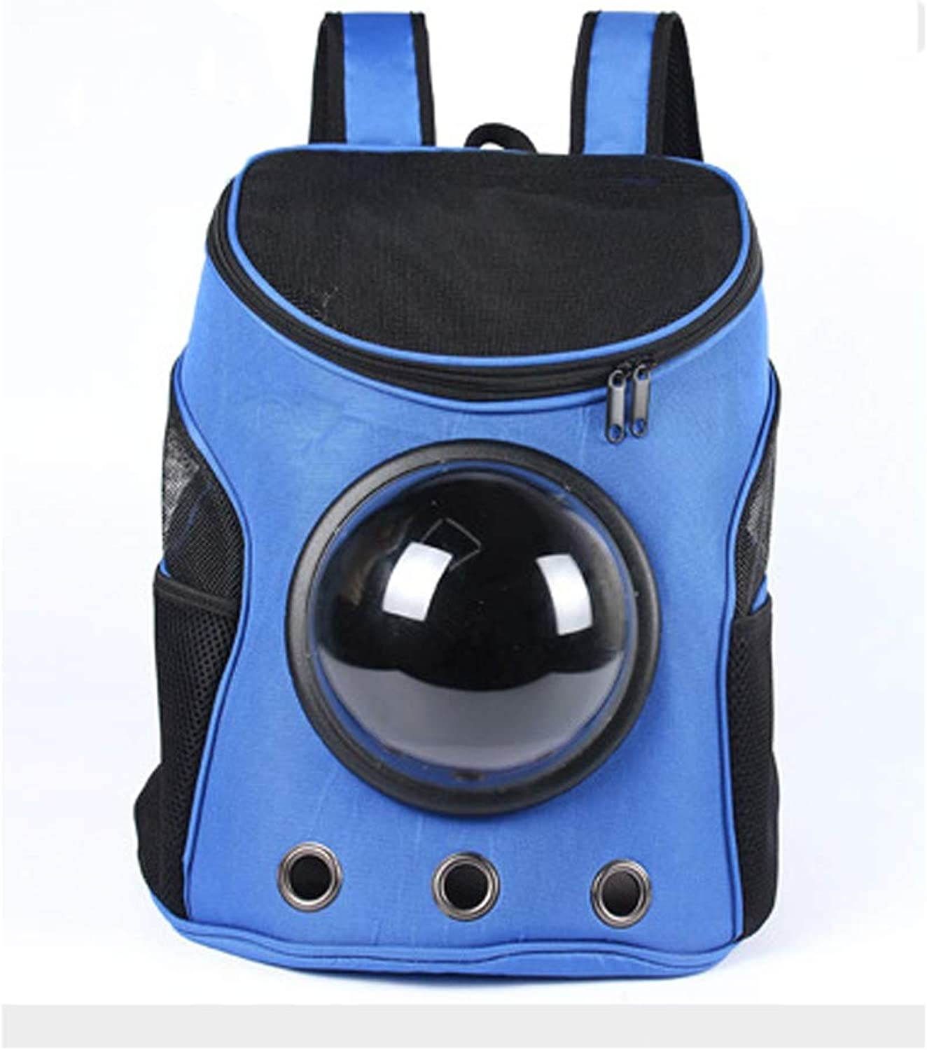 ACLBB Pet space capsule backpack, travel breathable backpack, portable capsule design, cat and puppy,bluee