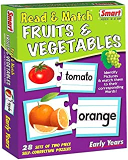 Smart 01083 Read and Match Fruits and Vegetables Card Game