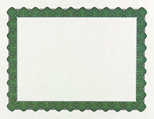 Great Papers! Metallic Green Border Certificate, 8.5'x 11', 100 Count (934200)