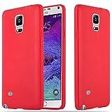 Cadorabo Funda para Samsung Galaxy Note 4 en Candy Rojo - Cubierta Proteccíon de Silicona TPU Delgada e Flexible con Antichoque - Gel Case Cover Carcasa Ligera